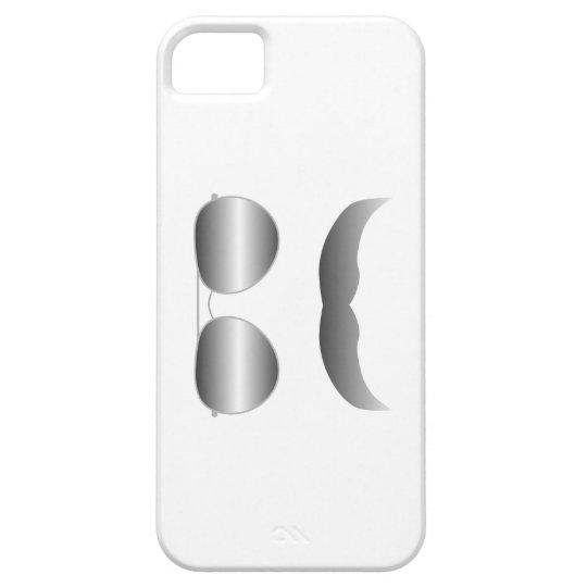 Silver Fox Aviator Sunglasses and Mustache iPhone SE/5/5s Case