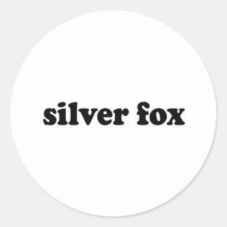 SILVER FOX CLASSIC ROUND STICKER