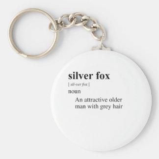 SILVER FOX KEY CHAIN