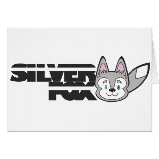 Silver fox logo card