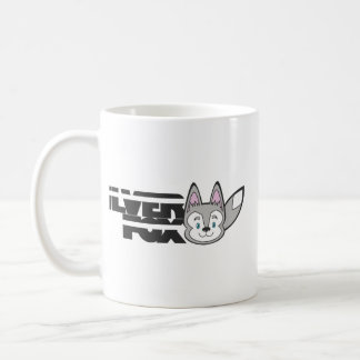 Silver fox logo coffee mug