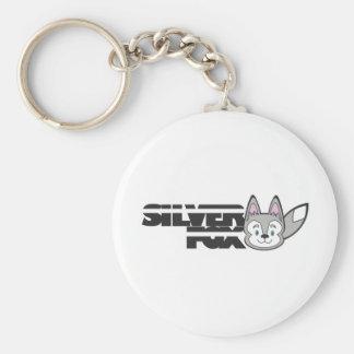 Silver fox logo keychain
