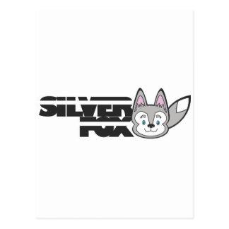 Silver fox logo postcard