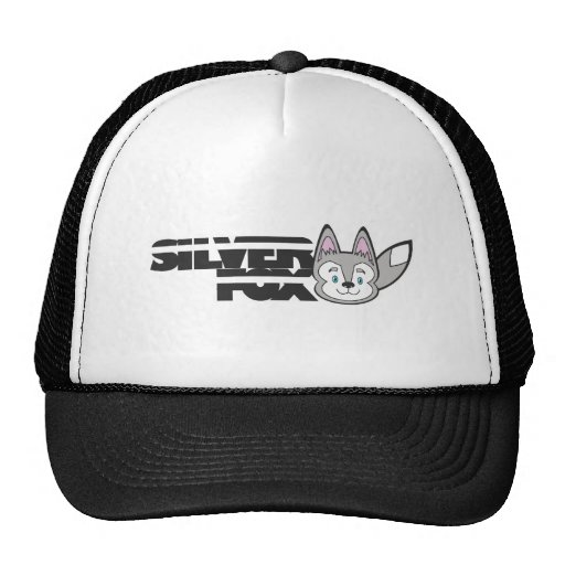 Silver fox logo trucker hat
