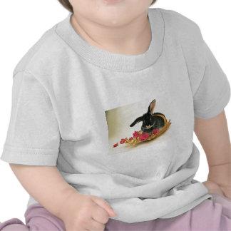Silver fox rabbit named Boris flowers T Shirts