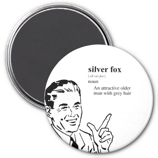 SILVER FOX REFRIGERATOR MAGNETS