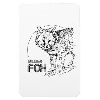 SILVER FOX VINTAGE RECTANGLE MAGNET