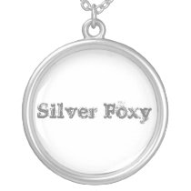 SILVER FOXY necklace. Proud to be silver! Silver Plated Necklace