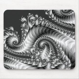 Silver Fractal Mousepad
