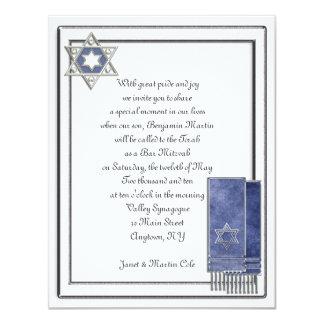 Silver Frame Bar Mitzvah Card