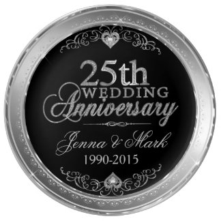 Silver Frame & Hearths 25th Wedding Anniversary Plate