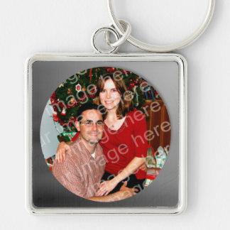 Silver Frame Photo Keychain