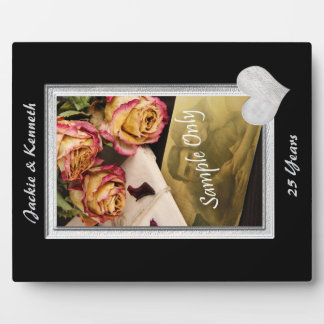 Silver Frame Wedding Anniversary Template Photo Plaque