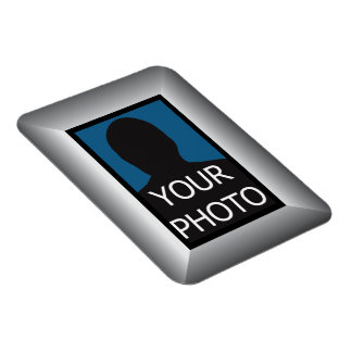 Silver Frame Your Photo Premium Magnet Template