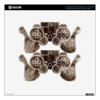 Silver Fur Decal For PS3 Controller