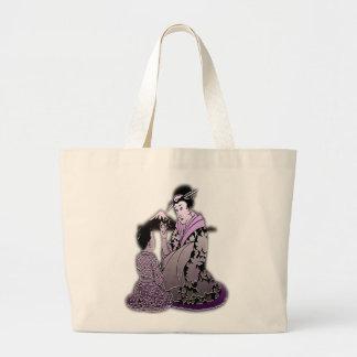 Silver Geisha Canvas Bag
