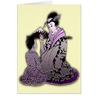 Silver Geisha Card