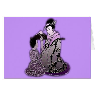 Silver Geisha Cards