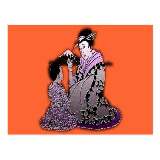 Silver Geisha Postcard