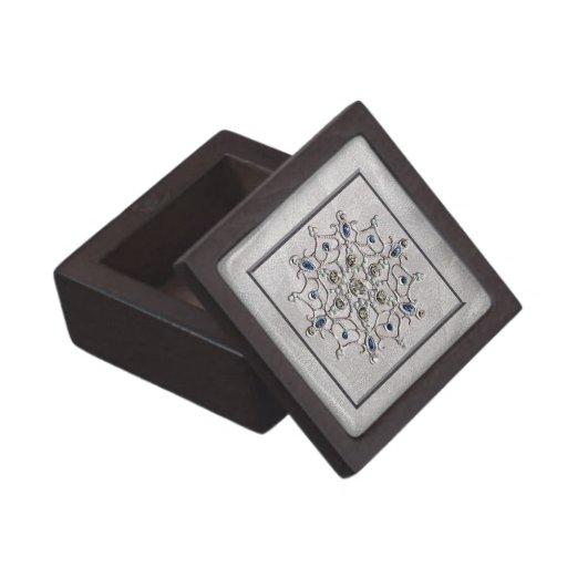 Silver Gem Snowflake Premium Keepsake Boxes
