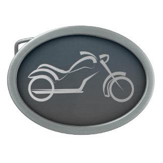 Silver Generic Frame Motorcycle Belt Buckle Revise