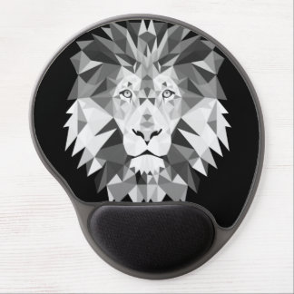 Silver Geometric Lion Gel Mouse Pad