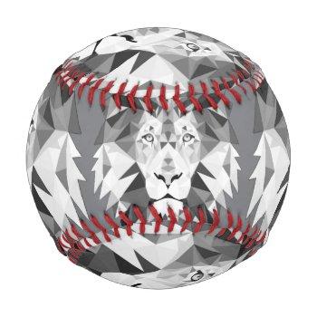 Silver Geometric Lion Head Baseball