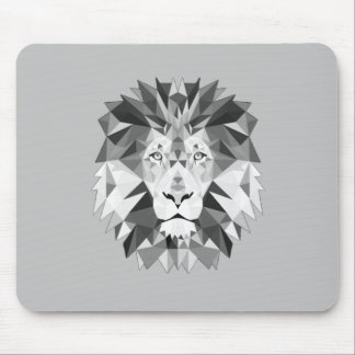 Silver Geometric Lions Head Mouse Pad