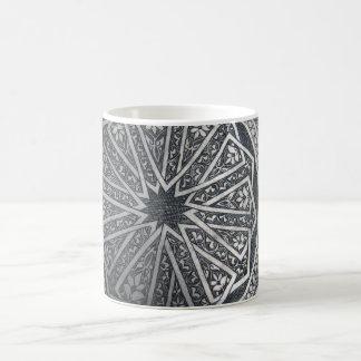 Silver Geometric Mug