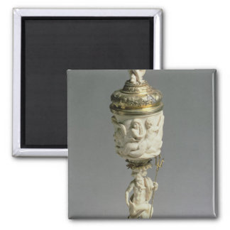 Silver gilt and carved ivory goblet 2 inch square magnet