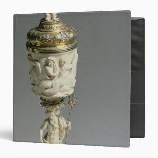 Silver gilt and carved ivory goblet 3 ring binder
