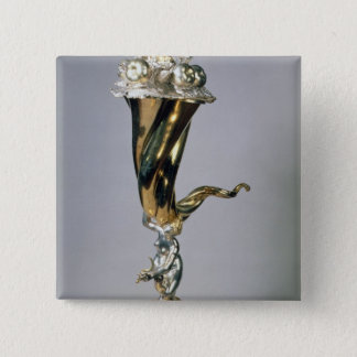 Silver gilt standing cup button