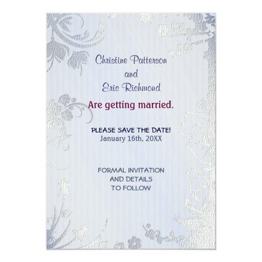 Silver Glimmer Invitation