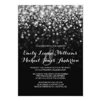 Silver GlitHollywood Glitz Glam Wedding Invitation