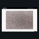 "Silver glitter 13&quot; laptop skin<br><div class=""desc"">Trendy and modern silver glitter gift ideas,  (not real glitter). Ideal for women,  girls and teenagers.</div>"