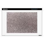 "Silver glitter 13"" laptop skins"