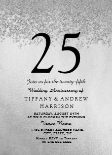 25th Silver Wedding Anniversary Cards - Greeting & Photo Cards | Zazzle