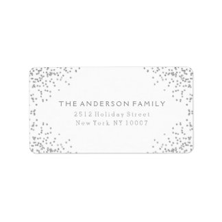 Silver glitter address label III