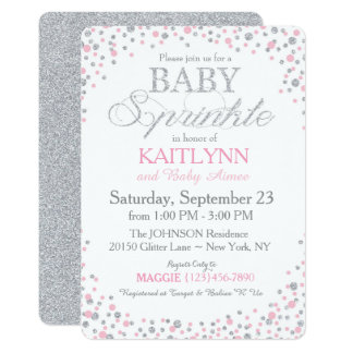 Glitter Baby Shower Invitations gangcraftnet