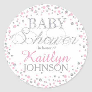 pink and silver baby shower gifts on zazzle