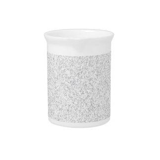 Silver glitter blank template beverage pitcher