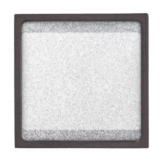 Silver glitter blank template keepsake box