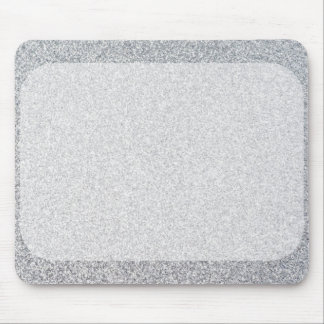 Silver glitter blank template mouse pad