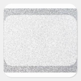 Silver glitter blank template square sticker