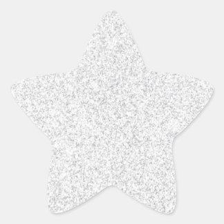 Silver glitter blank template star sticker