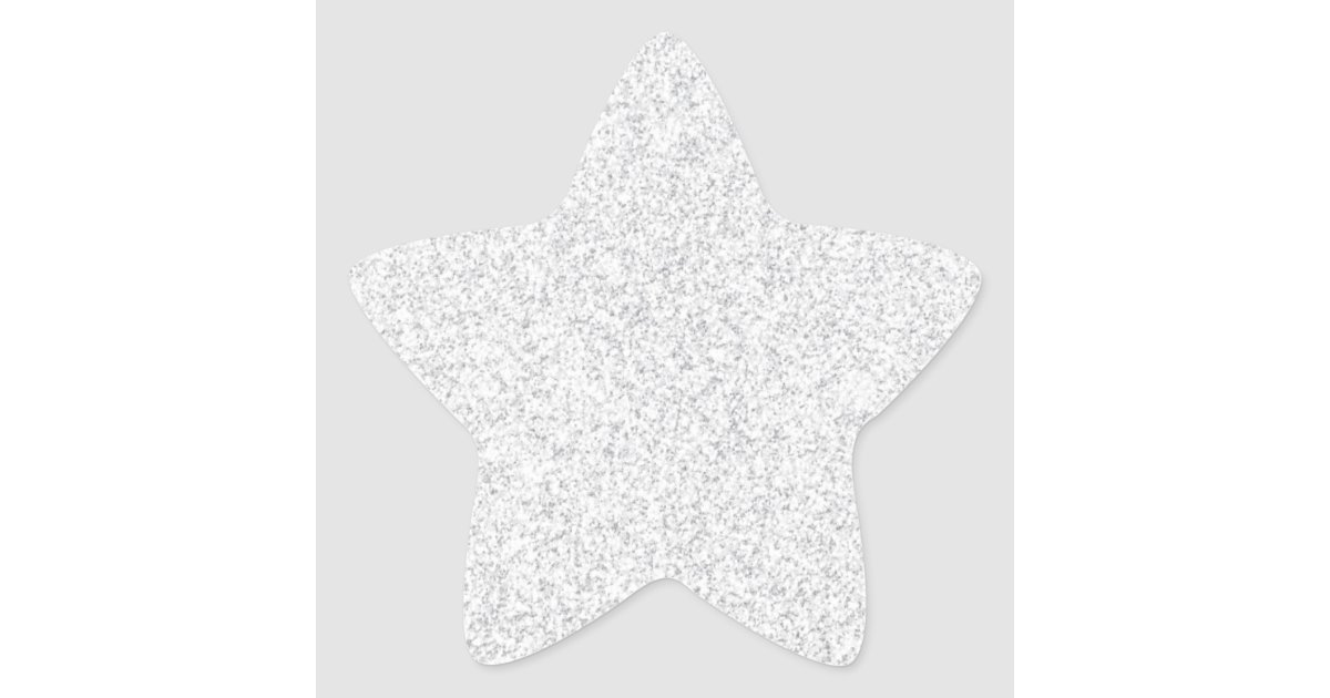 Silver Glitter Blank Template Star Sticker