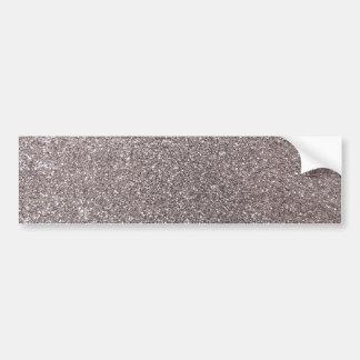 Silver glitter bumper sticker