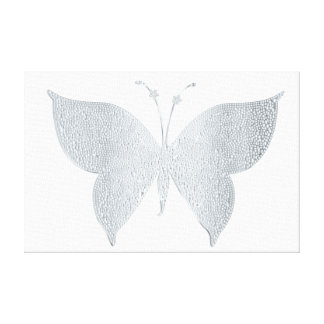 Silver Glitter Butterfly Canvas Picture