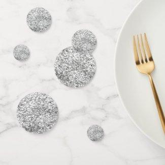 Silver Glitter Confetti