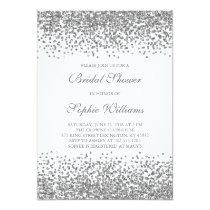 Silver Glitter Confetti Bridal Shower Invitation